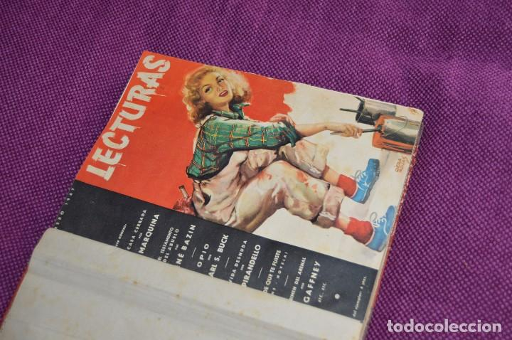 Coleccionismo de Revistas: ANTIGUO TOMO CON 6 NÚMEROS DE LA REVISTA LECTURAS - ENERO A JUNIO DE 1947 - ¡¡¡HAZME UNA OFERTA!!! - Foto 2 - 86392348