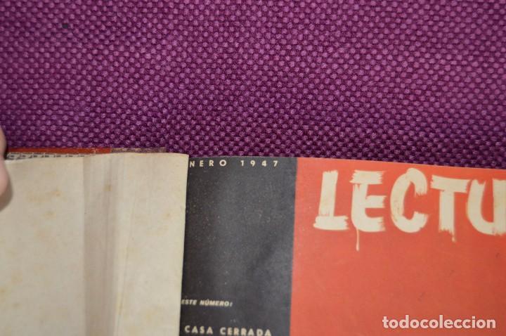 Coleccionismo de Revistas: ANTIGUO TOMO CON 6 NÚMEROS DE LA REVISTA LECTURAS - ENERO A JUNIO DE 1947 - ¡¡¡HAZME UNA OFERTA!!! - Foto 3 - 86392348