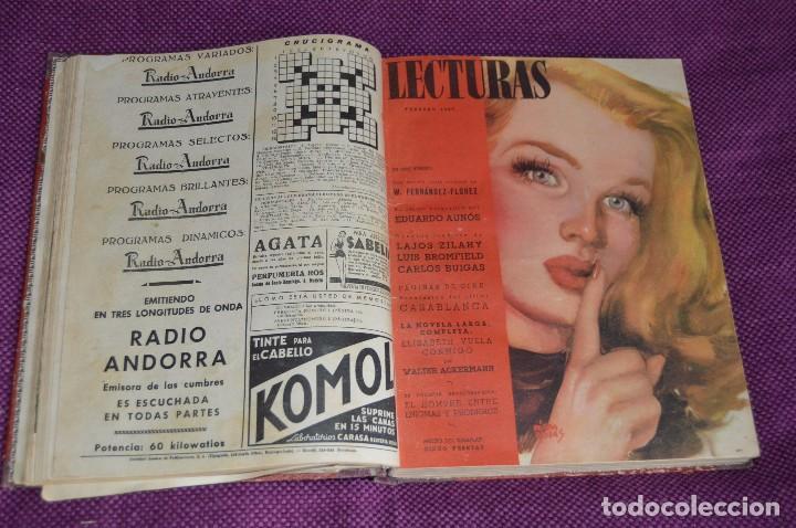 Coleccionismo de Revistas: ANTIGUO TOMO CON 6 NÚMEROS DE LA REVISTA LECTURAS - ENERO A JUNIO DE 1947 - ¡¡¡HAZME UNA OFERTA!!! - Foto 4 - 86392348