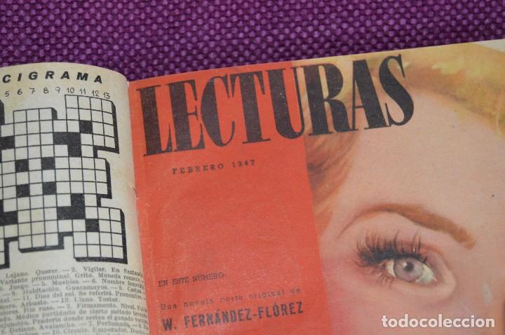 Coleccionismo de Revistas: ANTIGUO TOMO CON 6 NÚMEROS DE LA REVISTA LECTURAS - ENERO A JUNIO DE 1947 - ¡¡¡HAZME UNA OFERTA!!! - Foto 5 - 86392348