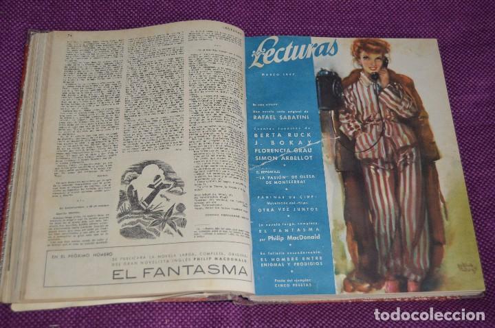 Coleccionismo de Revistas: ANTIGUO TOMO CON 6 NÚMEROS DE LA REVISTA LECTURAS - ENERO A JUNIO DE 1947 - ¡¡¡HAZME UNA OFERTA!!! - Foto 6 - 86392348