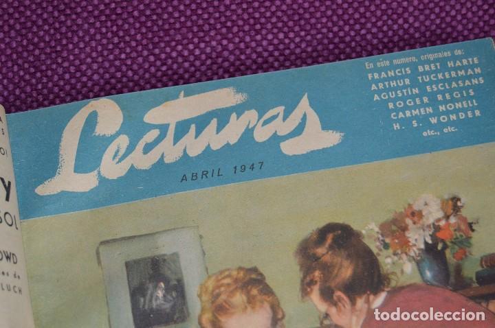 Coleccionismo de Revistas: ANTIGUO TOMO CON 6 NÚMEROS DE LA REVISTA LECTURAS - ENERO A JUNIO DE 1947 - ¡¡¡HAZME UNA OFERTA!!! - Foto 9 - 86392348