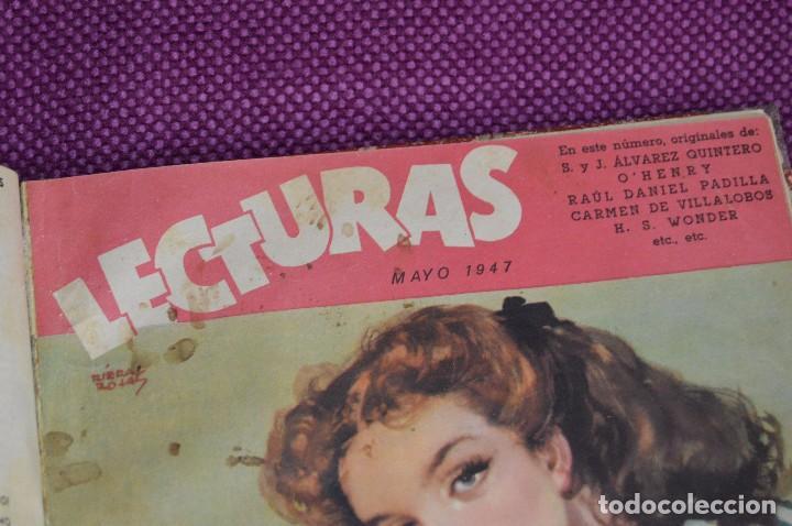 Coleccionismo de Revistas: ANTIGUO TOMO CON 6 NÚMEROS DE LA REVISTA LECTURAS - ENERO A JUNIO DE 1947 - ¡¡¡HAZME UNA OFERTA!!! - Foto 11 - 86392348