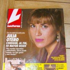 Coleccionismo de Revistas: LECTURAS 2067. 1991. JULIA OTERO, MARTA SANCHEZ, PATRICK SWAYZE, JEANETTE, LOLA FLORES, MABEL LOZANO. Lote 87728396