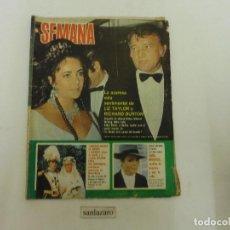 Coleccionismo de Revistas: REVISTA SEMANA Nº 1744 AÑO 1973 NOTICIAS DE SARA MONTIEL, LIZ TAYLOR & R BURTON, LIZZA MINNEL66 PAG.. Lote 89260652