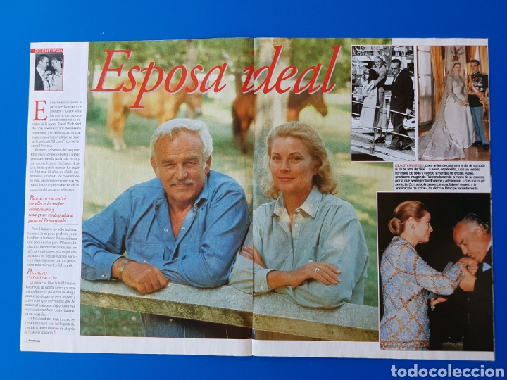 Coleccionismo de Revistas: GRACE KELLY EN EL RECUERDO - RAINIERO+CAROLINA-ESTEFANIA+ALBERTO DE MONACO -RECORTE REVISTA LECTURAS - Foto 3 - 89368224