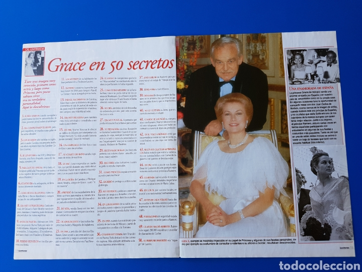 Coleccionismo de Revistas: GRACE KELLY EN EL RECUERDO - RAINIERO+CAROLINA-ESTEFANIA+ALBERTO DE MONACO -RECORTE REVISTA LECTURAS - Foto 5 - 89368224