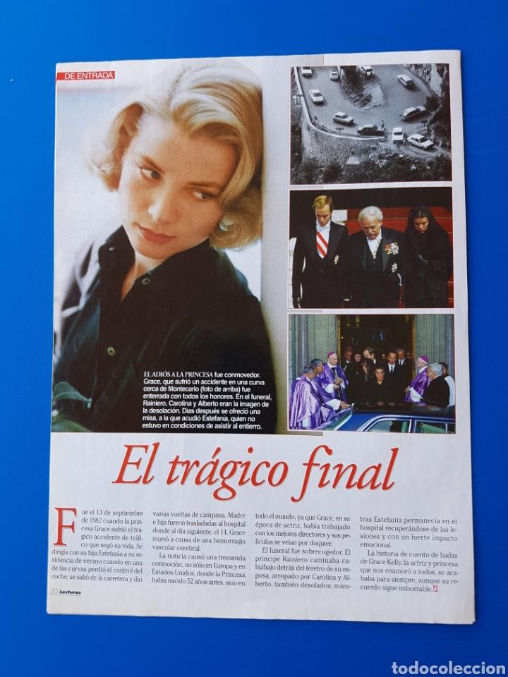 Coleccionismo de Revistas: GRACE KELLY EN EL RECUERDO - RAINIERO+CAROLINA-ESTEFANIA+ALBERTO DE MONACO -RECORTE REVISTA LECTURAS - Foto 6 - 89368224