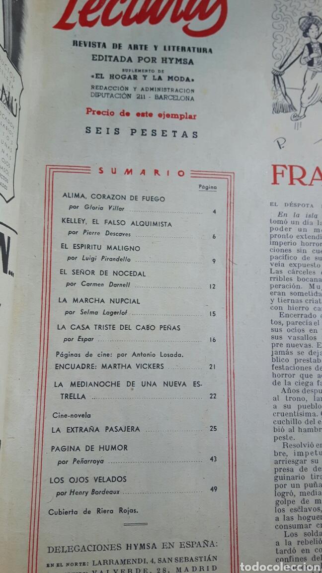 Coleccionismo de Revistas: Lecturas octubre 1947 - Foto 2 - 89430271
