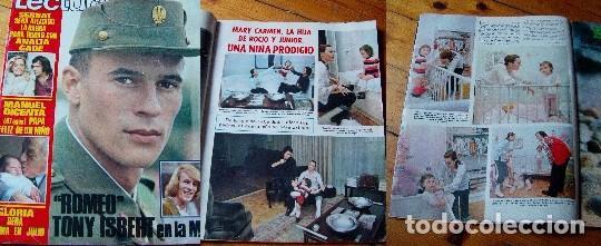 LECTURAS 1972 ROCÍO DÚRCAL SARA MONTIEL TONY ISBERT (Coleccionismo - Revistas y Periódicos Modernos (a partir de 1.940) - Revista Lecturas)