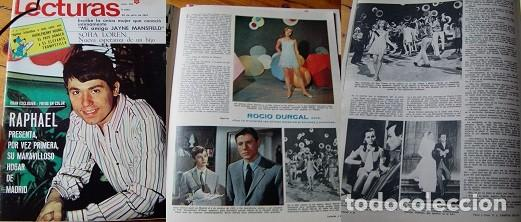 REVISTA LECTURAS RAPHAEL ROCÍO DÚRCAL 1967 (Coleccionismo - Revistas y Periódicos Modernos (a partir de 1.940) - Revista Lecturas)