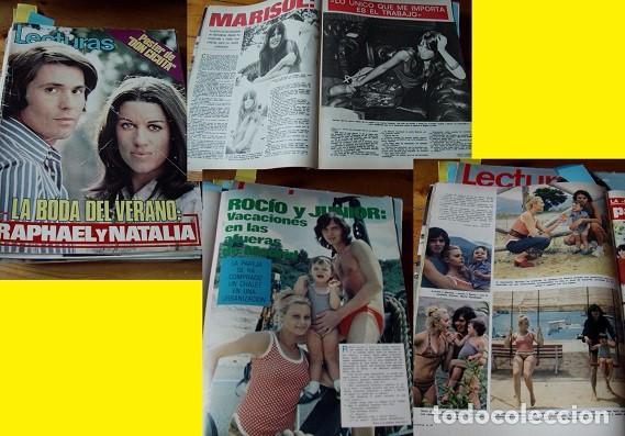 REVISTA LECTURAS 1972 RAPHAEL ROCÍO DÚRCAL MARISOL (Coleccionismo - Revistas y Periódicos Modernos (a partir de 1.940) - Revista Lecturas)