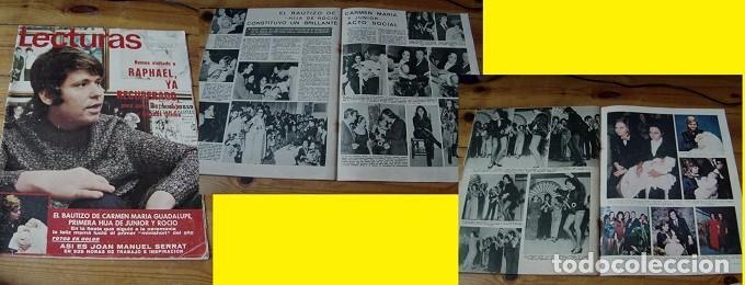 REVISTA LECTURAS 1971 ROCÍO DÚRCAL RAPHAEL (Coleccionismo - Revistas y Periódicos Modernos (a partir de 1.940) - Revista Lecturas)