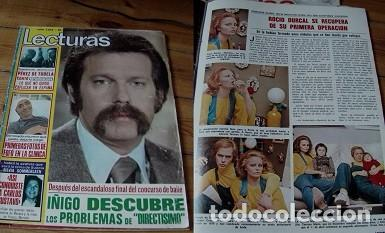 REVISTA LECTURAS 1976 ROCÍO DÚRCAL (Coleccionismo - Revistas y Periódicos Modernos (a partir de 1.940) - Revista Lecturas)