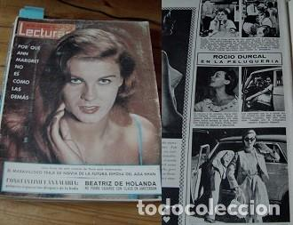 REVISTA LECTURAS 1965 ROCÍO DÚRCAL (Coleccionismo - Revistas y Periódicos Modernos (a partir de 1.940) - Revista Lecturas)