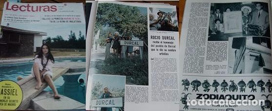 REVISTA LECTURAS 1968 ROCÍO DÚRCAL (Coleccionismo - Revistas y Periódicos Modernos (a partir de 1.940) - Revista Lecturas)