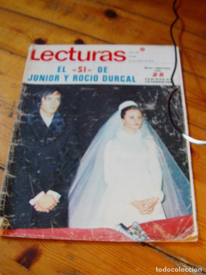 REVISTA LECTURAS ROCÍO DÚRCAL Y JUNIOR BODA (Coleccionismo - Revistas y Periódicos Modernos (a partir de 1.940) - Revista Lecturas)