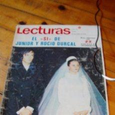 Coleccionismo de Revistas: REVISTA LECTURAS ROCÍO DÚRCAL Y JUNIOR BODA. Lote 90762590