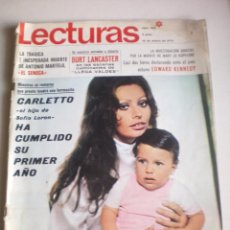 Coleccionismo de Revistas: REVISTA LECTURAS, Nº 926, AÑO 1970. Lote 92962115
