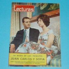 Coleccionismo de Revistas: LECTURAS Nº 526 18/05/1962 BODA DE LOS PRINCIPES JUAN CARLOS Y SOFIA - FRED MACMURRAY. Lote 95690799