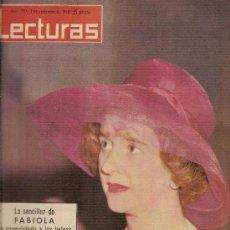Coleccionismo de Revistas: LECTURAS. N 550. 2-11-1962, FABIOLA,, BODA DE CURRO ROMERO Y CONCHITA PIQUER.. Lote 95690911