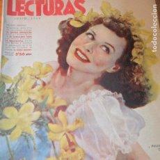 Coleccionismo de Revistas: LECTURAS Nº 213 DE 1942 - LITERATURA, ARTE, ARQUITECTURA.... Lote 95893119
