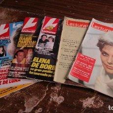 Coleccionismo de Revistas: LOTE DE 6 REVISTAS LECTURAS. Lote 96072503