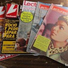 Coleccionismo de Revistas: LOTE DE 6 REVISTAS LECTURAS. Lote 96077059