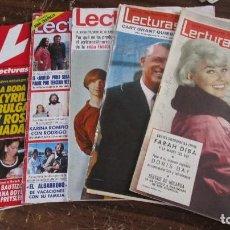 Coleccionismo de Revistas: LOTE DE 6 REVISTAS LECTURAS. Lote 96077263