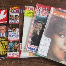 Coleccionismo de Revistas: LOTE DE 6 REVISTAS LECTURAS. Lote 96077595