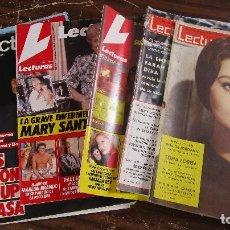 Coleccionismo de Revistas: LOTE DE 6 REVISTAS LECTURAS. Lote 96078619