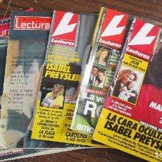 Coleccionismo de Revistas: LOTE DE 6 REVISTAS LECTURAS. Lote 96155215