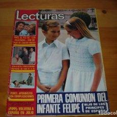 Coleccionismo de Revistas: LECTURAS Nº 1208 - PRIMERA COMUNION DEL INFANTE FELIPE (ACTUAL REY ESPAÑA) Y OTROS- REVISTA-. Lote 97010371