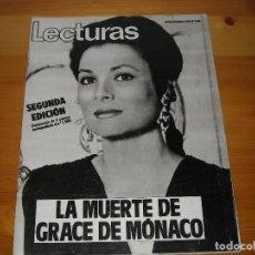 Coleccionismo de Revistas: LECTURAS Nº 1588 - 24 SEPTIEMBRE 1982 - MUERTE DE GRACE DE MONACO Y OTROS- REVISTA-. Lote 97010579