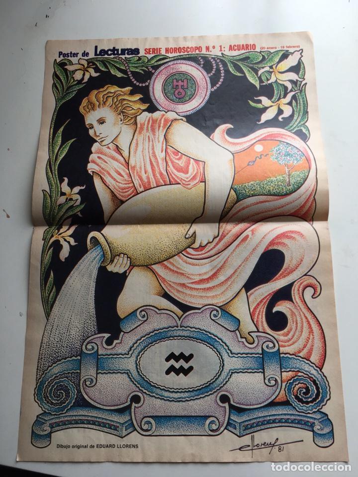 PÓSTER REVISTA LECTURAS 80 (Coleccionismo - Revistas y Periódicos Modernos (a partir de 1.940) - Revista Lecturas)