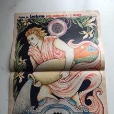 Coleccionismo de Revistas: PÓSTER REVISTA LECTURAS 80. Lote 97206719