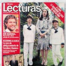 Coleccionismo de Revistas: REVISTA LECTURAS - Nº 1625 - 1983 - UN DOS TRES, KEN MARSHALL, JULIO IGLESIAS, DALLAS, CHISPITA. Lote 98200251