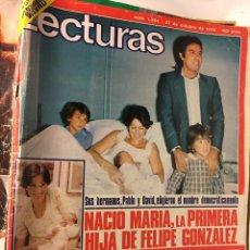 Coleccionismo de Revistas: RAL295 REVISTA LECTURAS Nº 1384 1977 FELIPE GONZALEZ. Lote 98384715