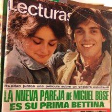 Coleccionismo de Revistas: RAL295 REVISTA LECTURAS-1978-MIGUEL BOSE-ANA BELEN-CARMEN CERVERA-JOSELITO-DE LA FUENTE-PLANETA SIMI. Lote 98385443