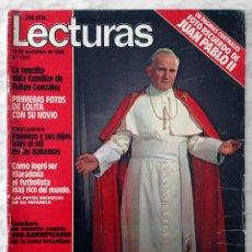 Coleccionismo de Revistas: REVISTA LECTURAS - Nº 1595 1982 JUAN PABLO II, ARRIBA Y ABAJO, MARISOL, LUIS MIGUEL, JULIO IGLESIAS. Lote 98498171