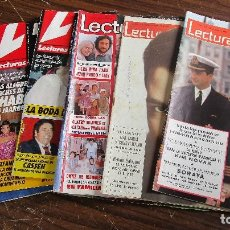 Coleccionismo de Revistas: LOTE DE 6 REVISTAS LECTURAS. Lote 100227867
