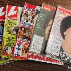 Coleccionismo de Revistas: LOTE DE 6 REVISTAS LECTURAS. Lote 100228079