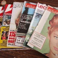 Coleccionismo de Revistas: LOTE DE 6 REVISTAS LECTURAS. Lote 100308815