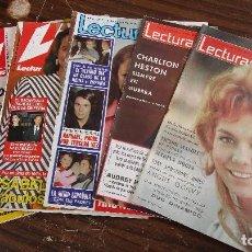 Coleccionismo de Revistas: LOTE DE 6 REVISTAS LECTURAS. Lote 100309983