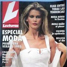 Coleccionismo de Revistas: LECTURAS ESPECIAL MODA PRIMAVERA VERANO 1995, CON LAS MEJORES MODELOS DE LOS 90. Lote 100341011