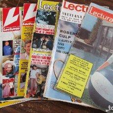 Coleccionismo de Revistas: LOTE DE 6 REVISTAS LECTURAS. Lote 100375139