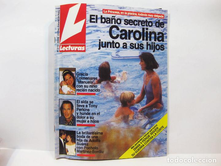 NÚMERO 2112 DE LA REVISTA LECTURAS - EL BAÑO SECRETO DE CAROLINA - 1992 (Coleccionismo - Revistas y Periódicos Modernos (a partir de 1.940) - Revista Lecturas)