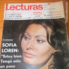 Coleccionismo de Revistas: LECTURAS Nº 868 1968- SOFIA LOREN- RAFFAELA CARRA Y FRANK SINATRA- SARA MONTIEL- EL VITI- FORMULA V-. Lote 102796923