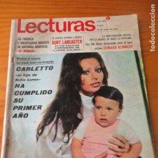 Coleccionismo de Revistas: LECTURAS Nº 926 DE 1970- SOFIA LOREN- BURT LANCASTER- JOHN LENNON- FRANK SINATRA- GINA LOLLOBRIGIDA. Lote 102812759
