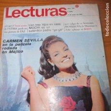 Coleccionismo de Revistas: LECTURAS Nº 789 D 1967- CARMEN SEVILLA- NANCY SINATRA- ELVIS PRESLEY- SONY & CHER - CARLOS LARRAÑAGA. Lote 103309175